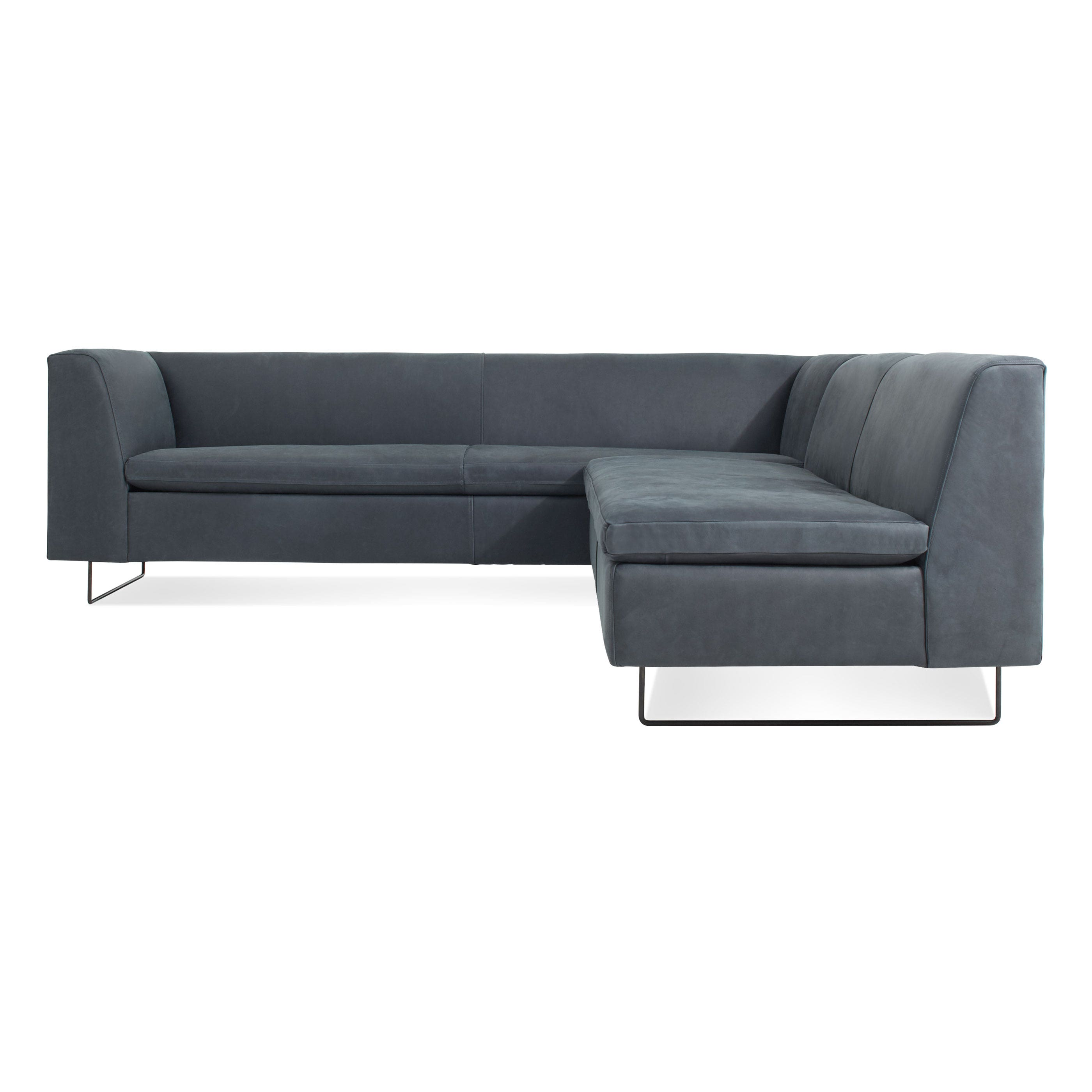 Bonnie and Clyde Modern Leather Sectional Sofa