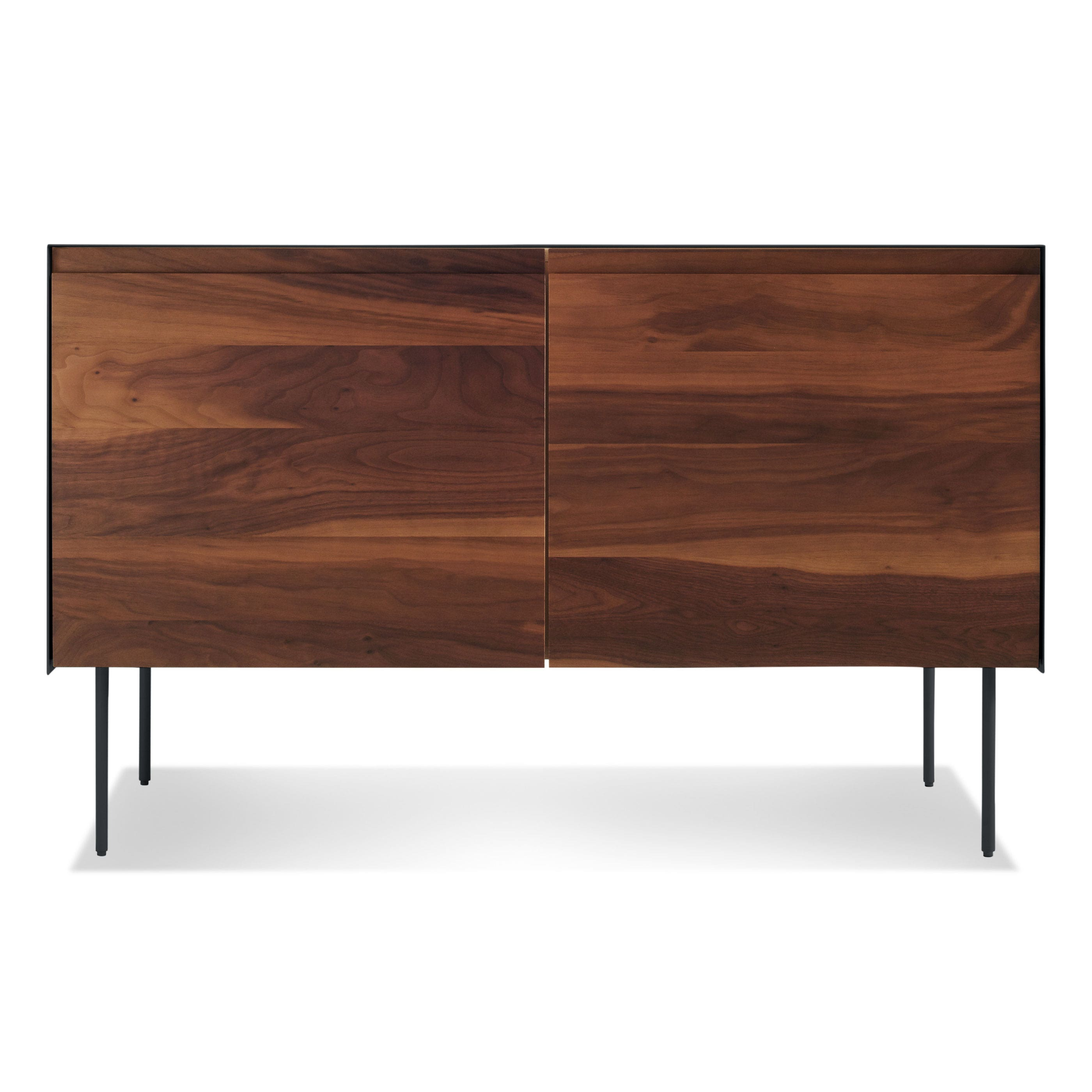 Previous image Clad 2 Door Credenza - Walnut / Oblivion ...  sc 1 st  Blu Dot : clad door - pezcame.com