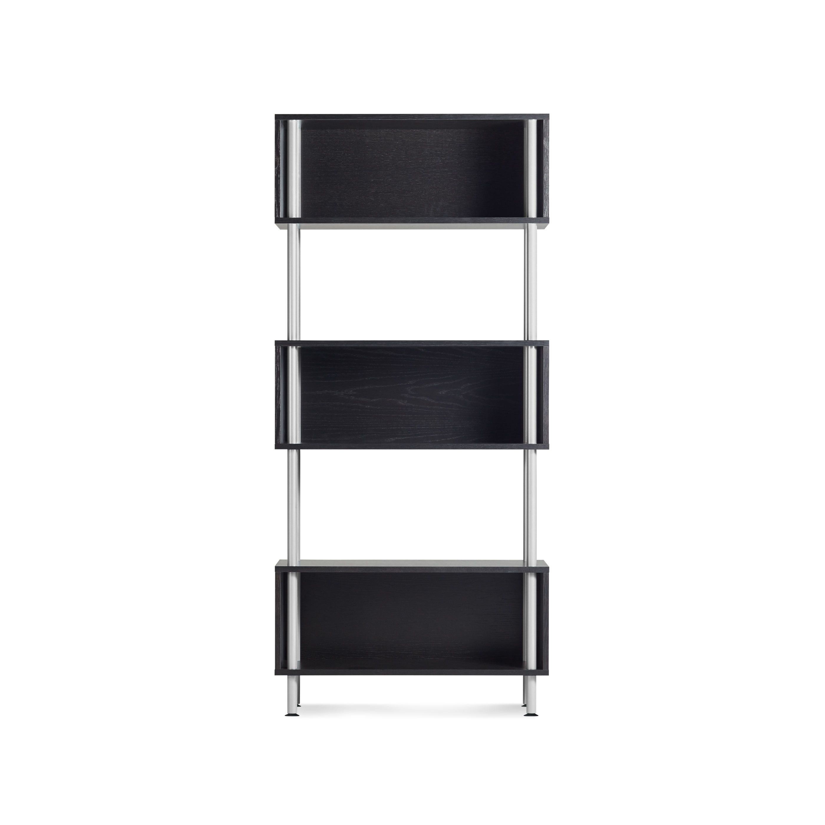 Previous image Black Chicago 3 Box Modern Shelving Unit ...