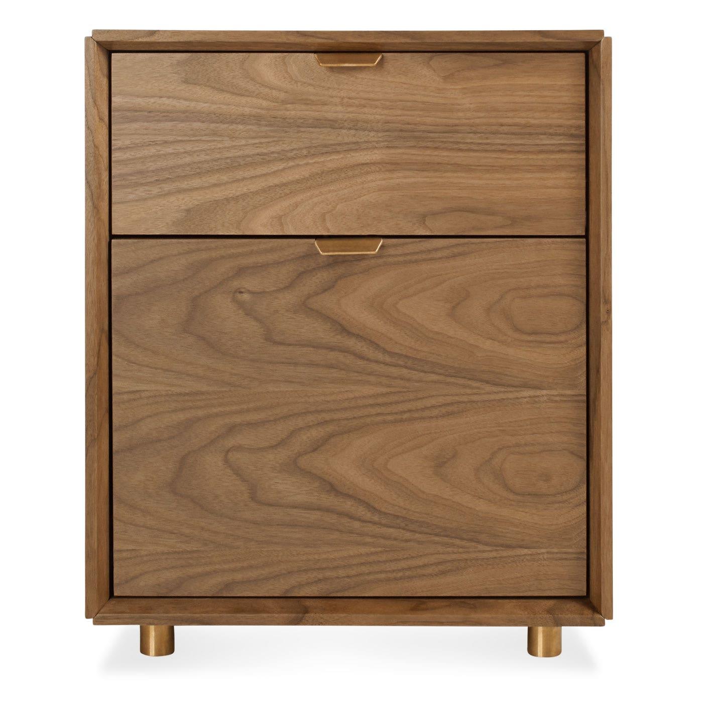 modern file cabinet. Previous Image Dang File Pedestal - Walnut Modern Cabinet N
