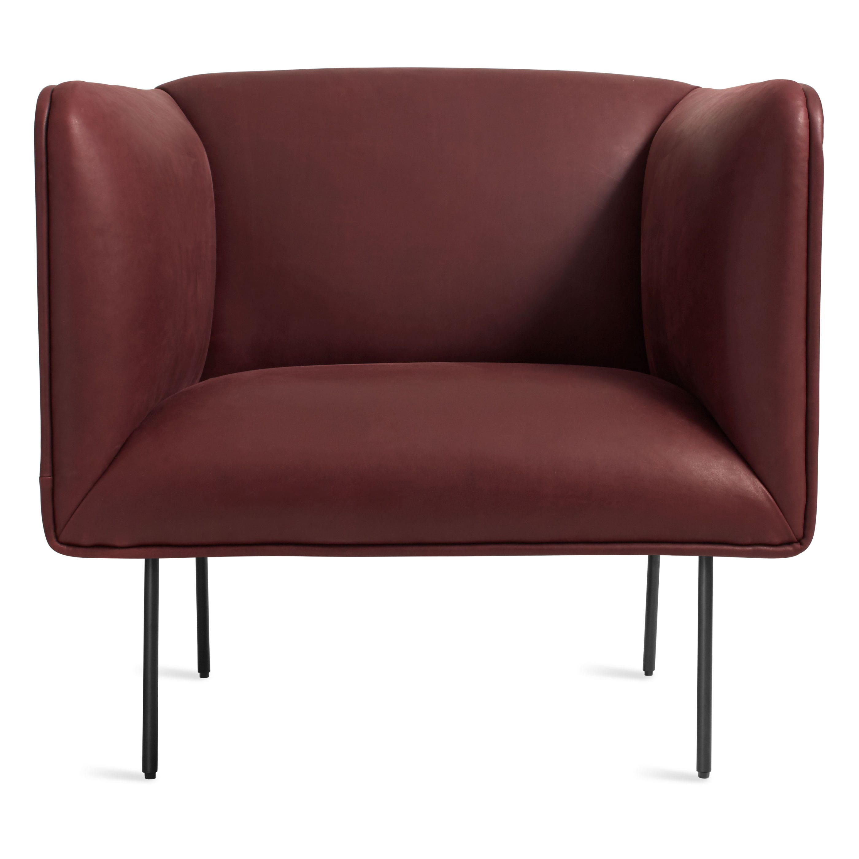 Previous Image Dandy Leather Lounge Chair   Oxblood Leather ...