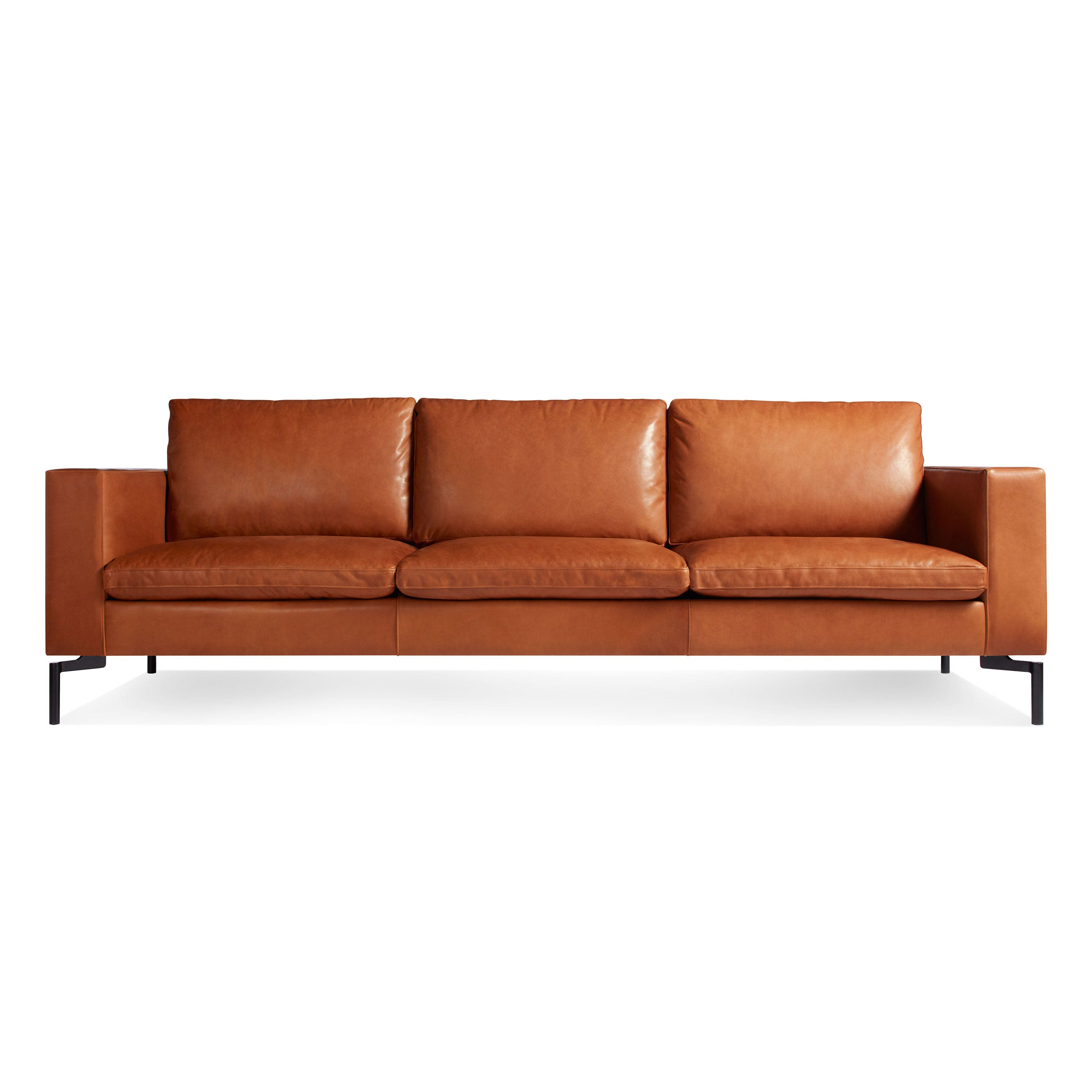 Previous Image New Standard Modern Black Leather Sofa ...