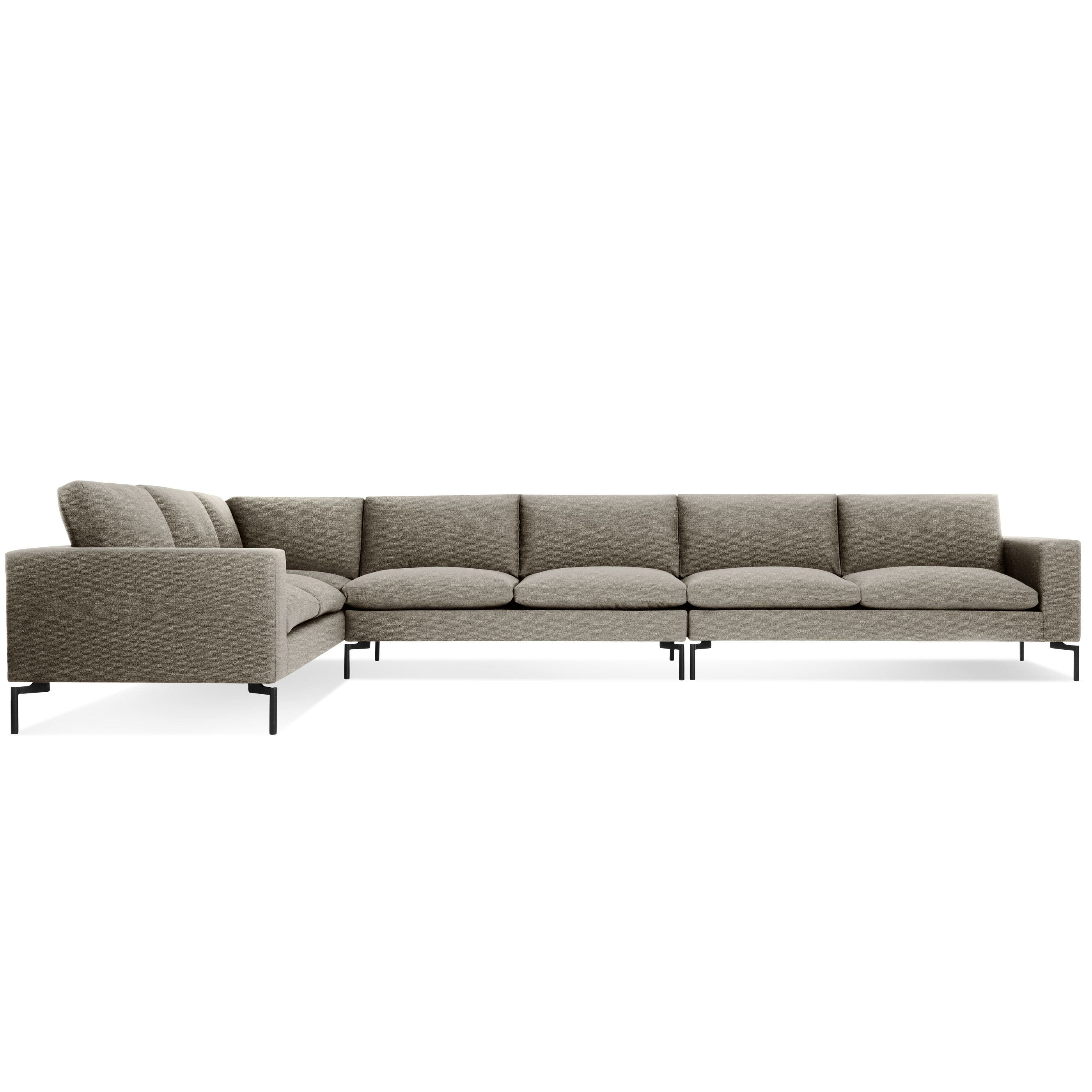 Previous Image New Standard Left Sectional Sofa   Large   Sanford Black /  Black ...