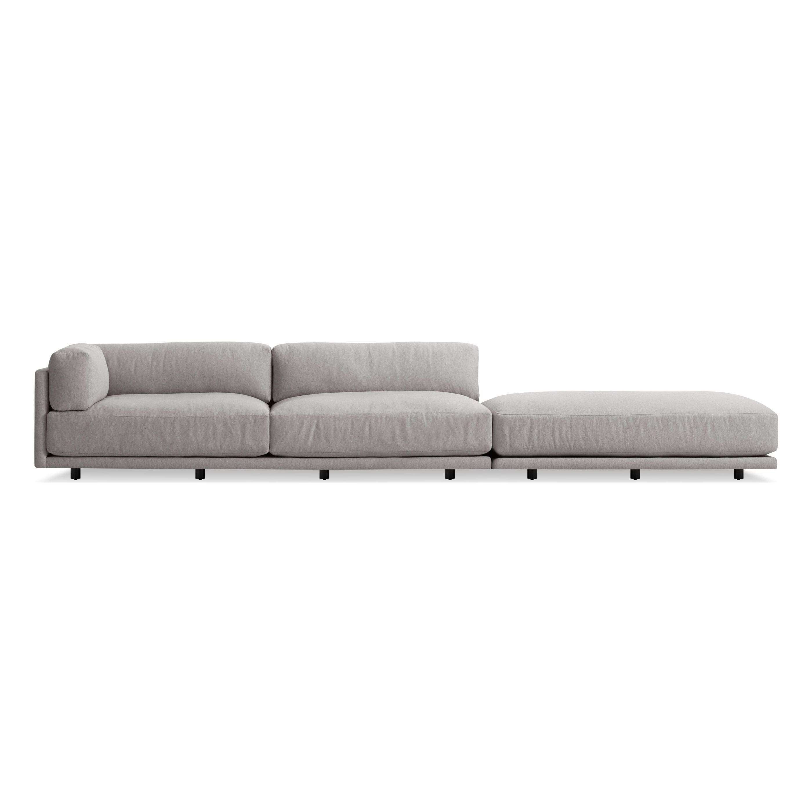 Previous Image Sunday Long And Low Left Sectional Sofa   Agnew Grey ...