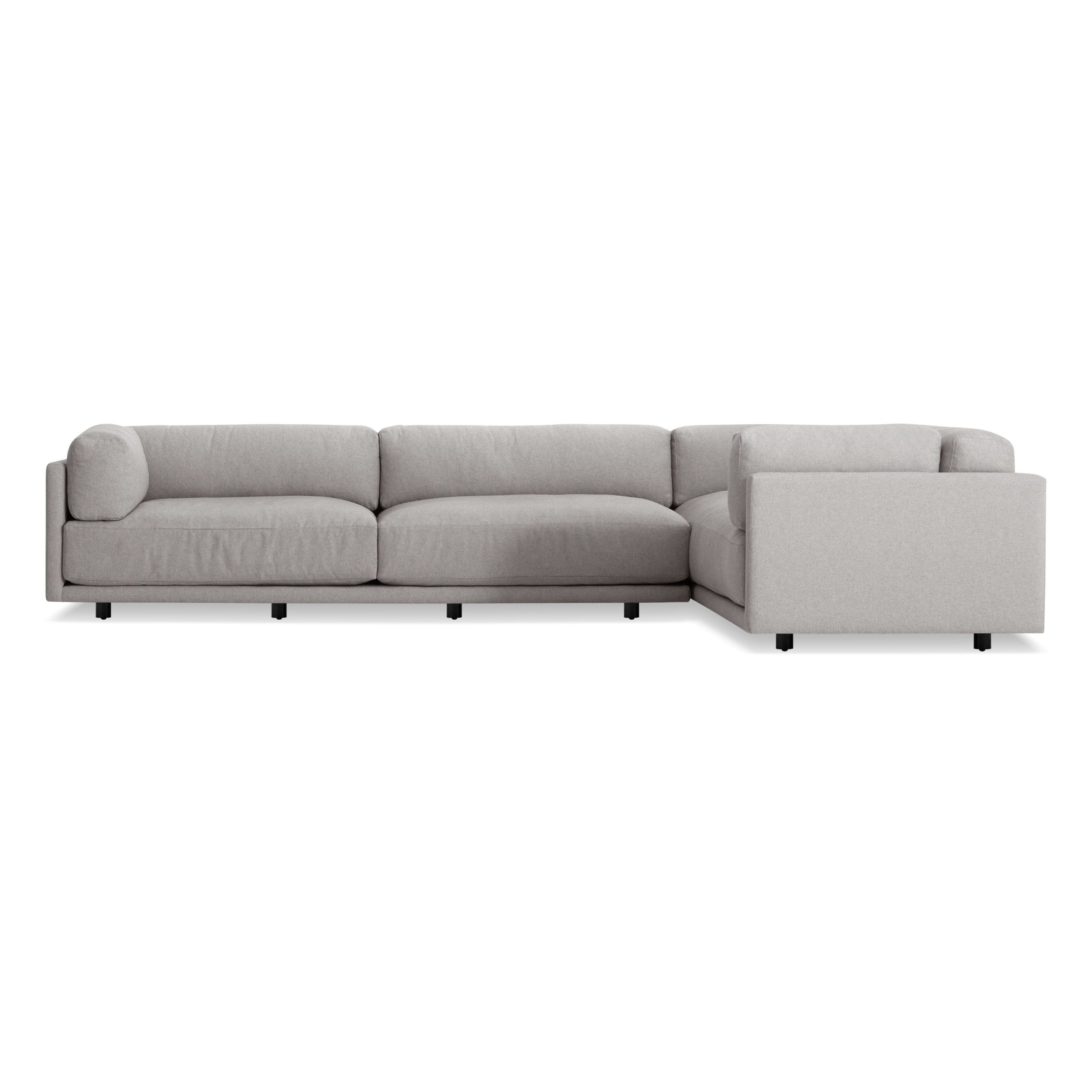 Sunday L Sectional Sofa Modern L Shaped Sofa